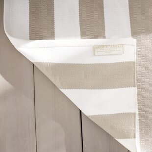 Compare Catamaran Stripe Gold/White Indoor/Outdoor Area Rug By Dash and Albert Rugs
