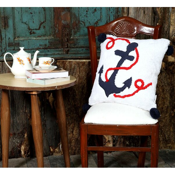 Yahir Anchor Throw Pillow by Breakwater Bay