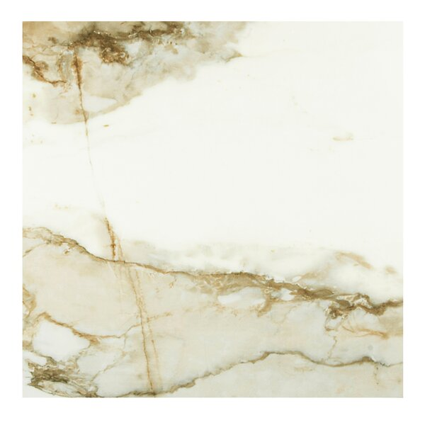 Nelia Blanco Marble 24 x 24 Porcelain Field Tile in White by Casa Classica