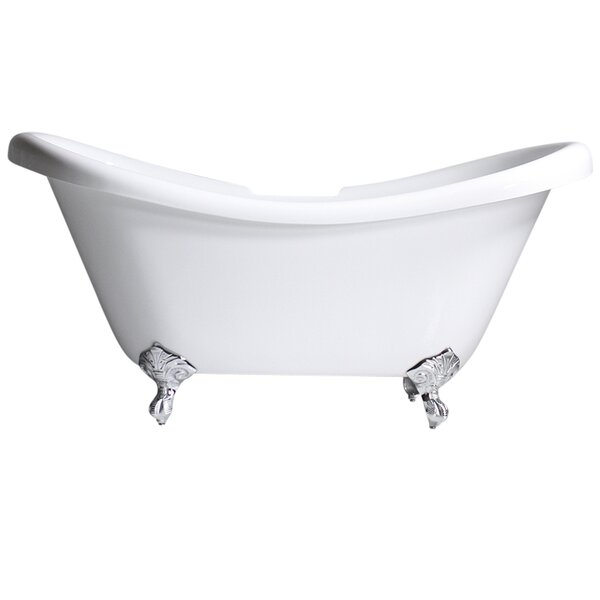 Hotel Acrylic 59 x 31 Freestanding Soaking Bathtub by Baths of Distinction