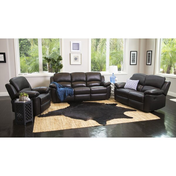 Blackmoor Reclining 3 Piece Leather Living Room Set by Darby Home Co