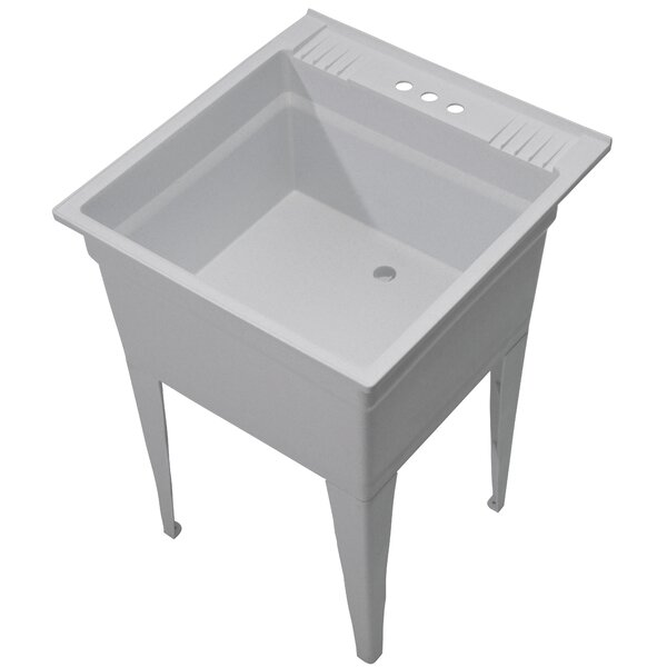 Essential 23.75 x 24.75 Free Standing Laundry Sink by Cashel