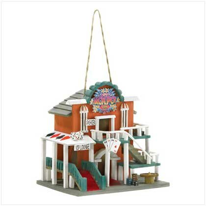 Jackpot City 10 in x 9.5 in x 8 in Birdhouse by Classic Gifts and Decor