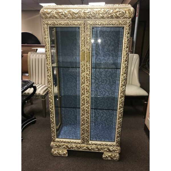 Messiah Lighted Curio Cabinet by Astoria Grand