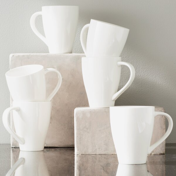 Whisper White 16 oz. Mug (Set of 6) by Red Vanilla