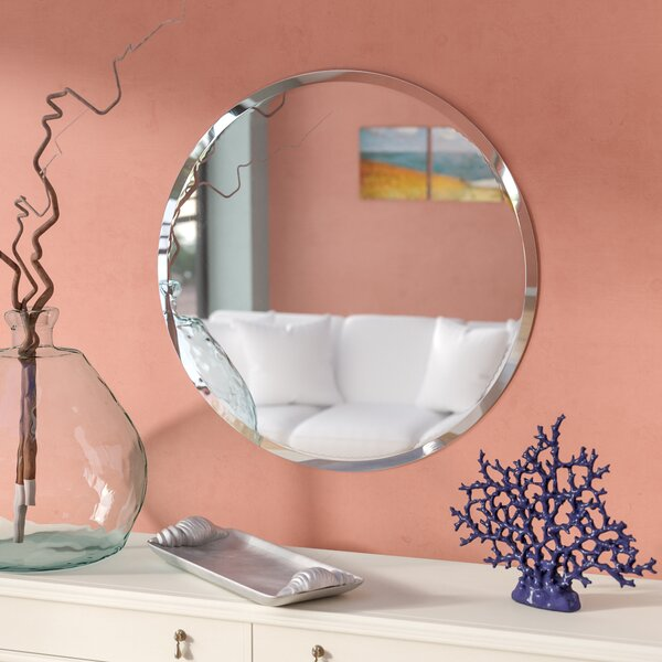 Josephine Round Wall Mirror by Rosecliff Heights