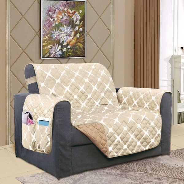 Reversible Furniture Protector Box Cushion Wingback Slipcover by Winston Porter