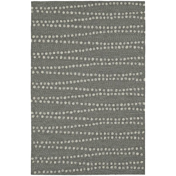 Amee Hand-Tufted Pewter Indoor/Outdoor Area Rug by Latitude Run