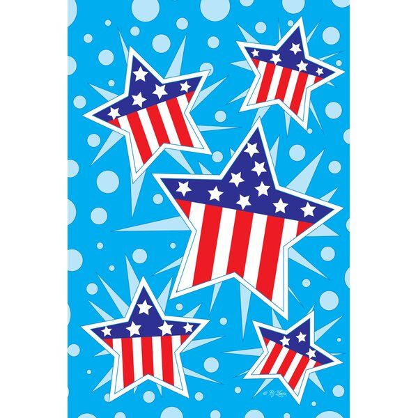 Patriotic Stars 2-Sided Garden flag by Toland Home Garden