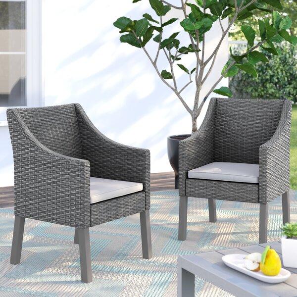 Portola Outdoor Wicker Patio Dining Chair (Set of 2) by Sol 72 Outdoor Sol 72 Outdoor