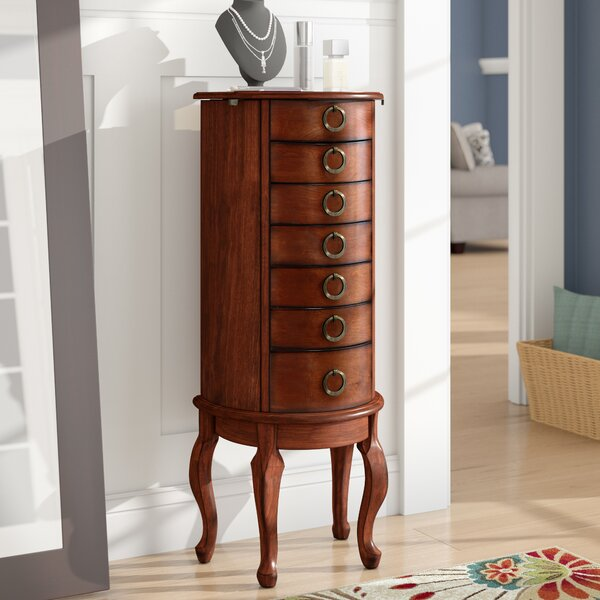Burnell Jewelry Armoire with Mirror by Alcott Hill