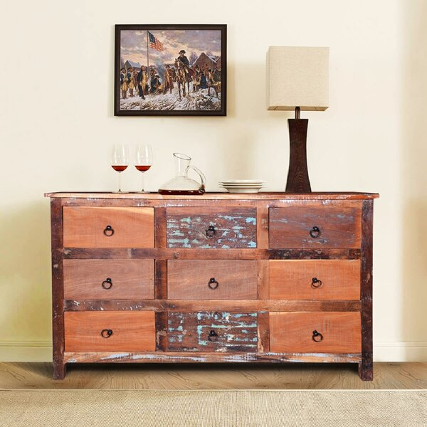 Melra 9 Drawer Double Dresser by Millwood Pines