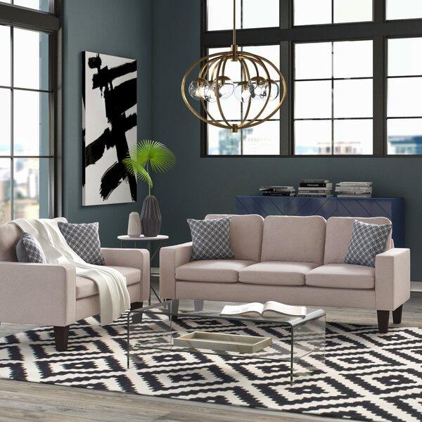 Best Reviews Bibbs 2 Piece Standard Living Room Set by Mercury Row