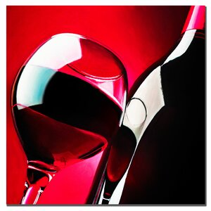 Red Wine by Roderick Stevens Framed Photographic Print on Wrapped Canvas by Trademark Fine Art