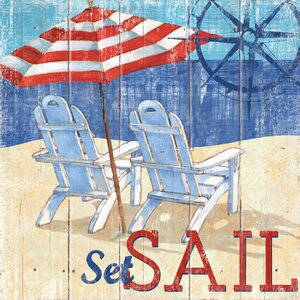 Seas the Day I by Paul Brent Graphic Art on Wrapped Canvas by Portfolio Canvas Decor