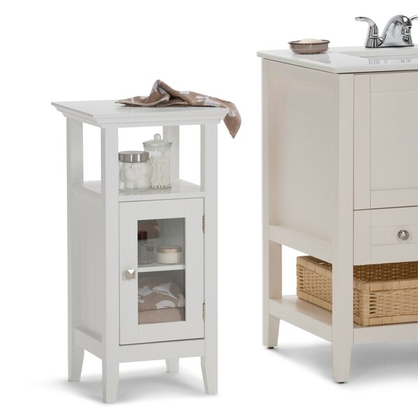 Acadian Floor Storage 14.97 W x 30.04 H Cabinet by Simpli Home