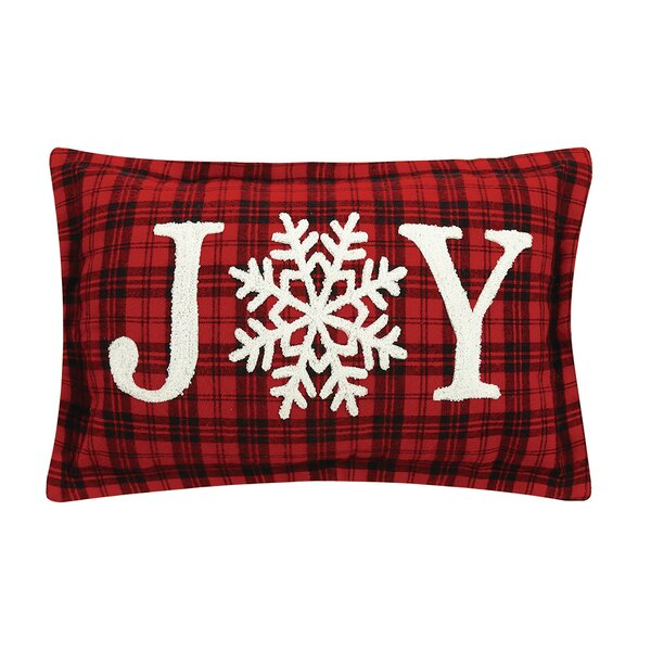 Nigel Joy Snowflake Cotton Lumbar Pillow by The Holiday Aisle
