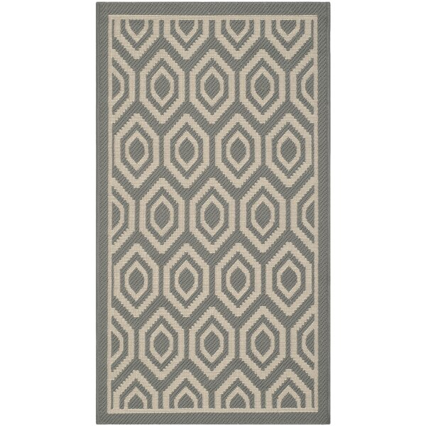 Catharine Gray/Beige Indoor/Outdoor Area Rug by George Oliver