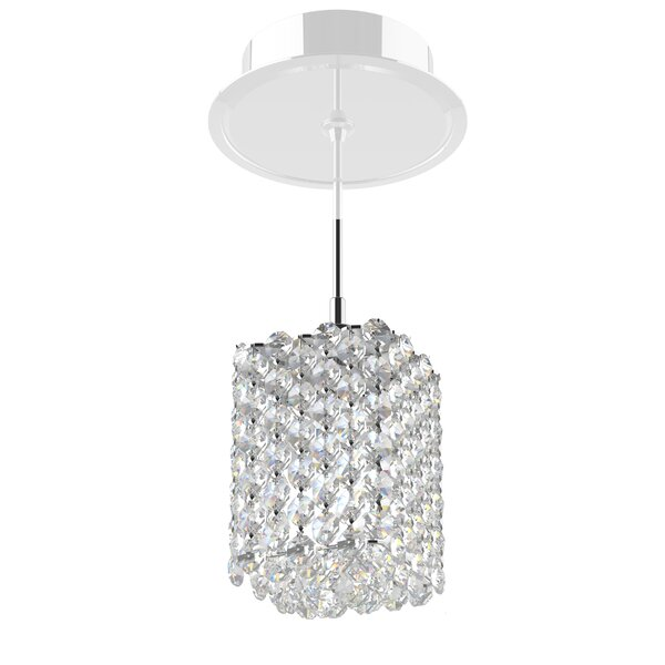 Refrax 1-Light Mini Crystal Pendant by Schonbek