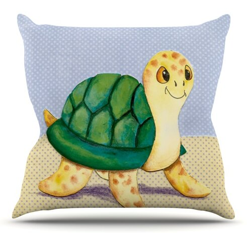 Slow and Steady by Padgett Mason Outdoor Throw Pillow by East Urban Home