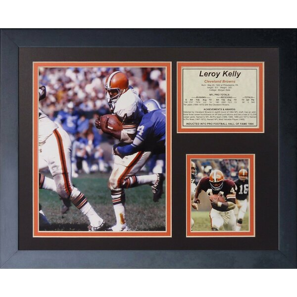Leroy Kelly Framed Memorabilia by Legends Never Die