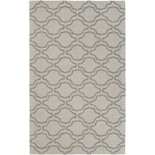 Coulombe Hand-Tufted Ivory Area Rug by Highland Dunes