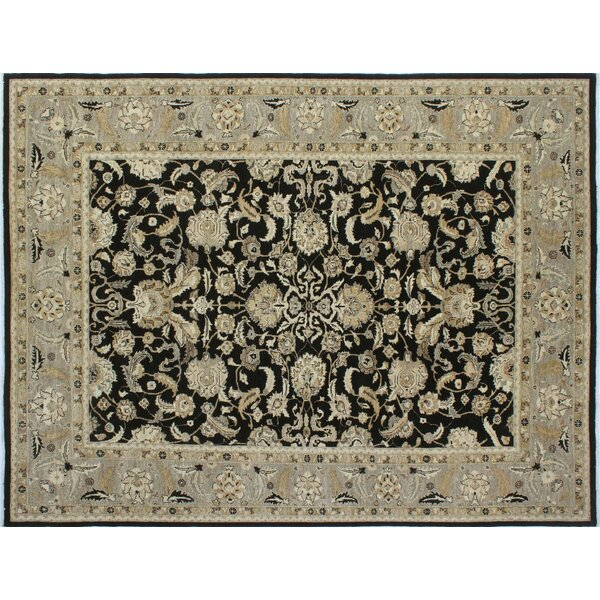 One-of-a-Kind Romona Hand-Knotted Black Indoor Area Rug by Isabelline
