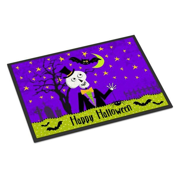 Happy Halloween Skeleton Doormat by Caroline's Treasures