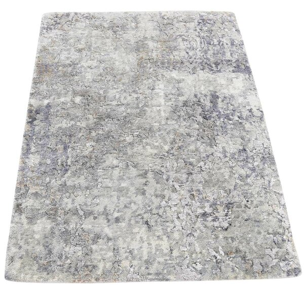 One-of-a-Kind Eddyville Hi-Lo Hand-Knotted Gray Area Rug by 17 Stories