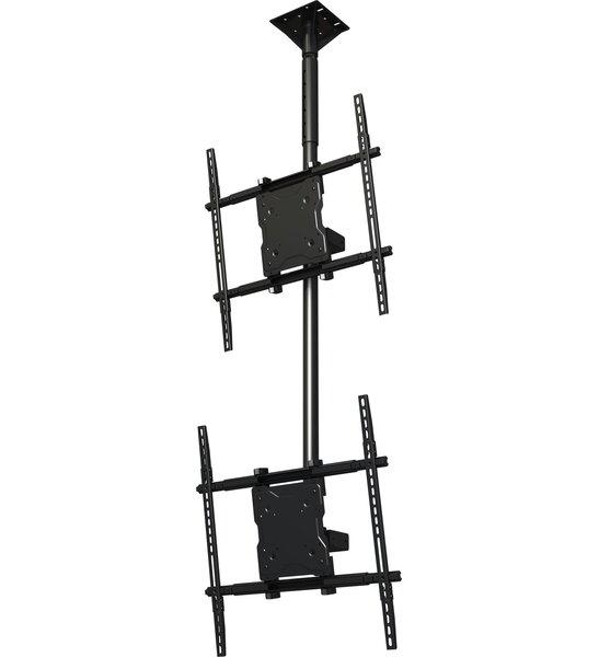 Dual Screen Tilt Universal Ceiling Mount for 37 - 65 Screens by Crimson AV