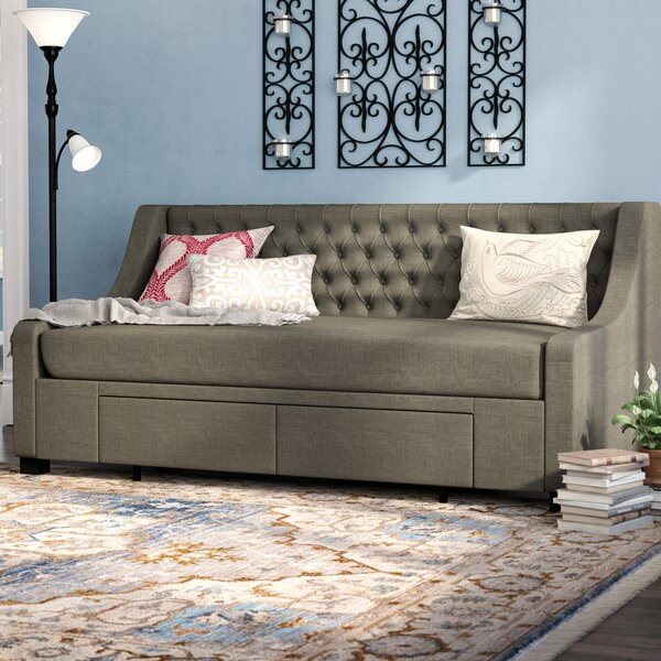 Darby Home Co Aron Twin Upholstery Storage Daybed