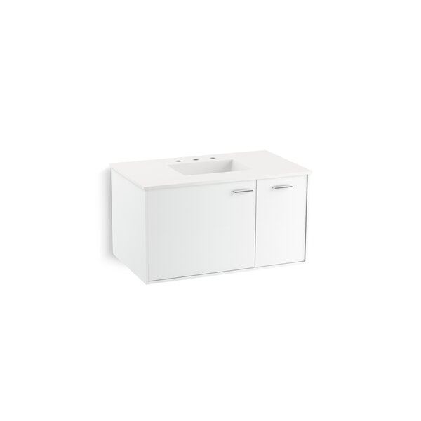 Jute™ 36 Vanity Base Only with 1 Door and 1 Drawer on Right
