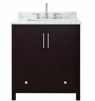 Pergamon Marble Top 31 Single Bathroom Vanity Set by Brayden Studio