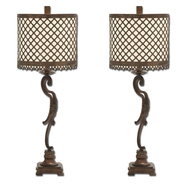 Venize Lattice 34 Table Lamp (Set of 2) by Urban Designs