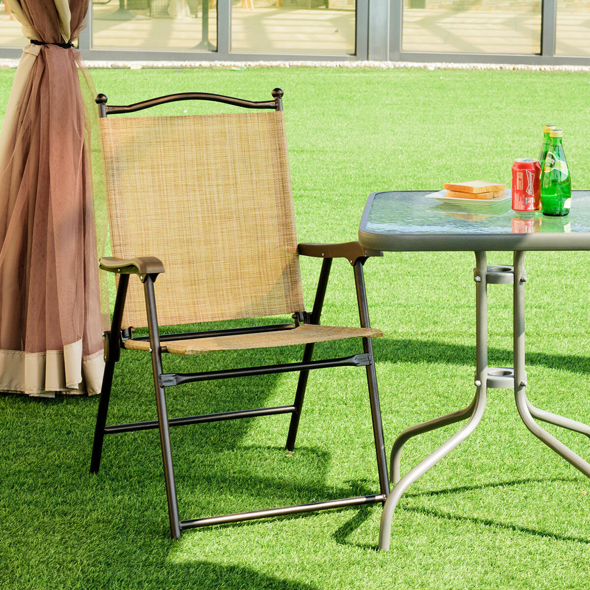 Redwood Folding Portable Travel Sports Directors Chair BLACK//GREEN