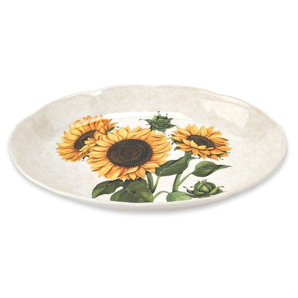 Sunflower 16 Oval Platter by Lorren Home Trends