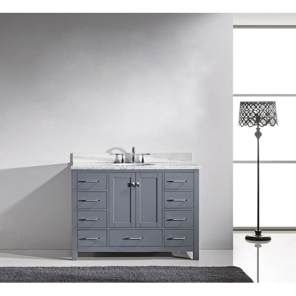 Serigne 47 Single Bathroom Vanity Set with Mirror by Willa Arlo Interiors