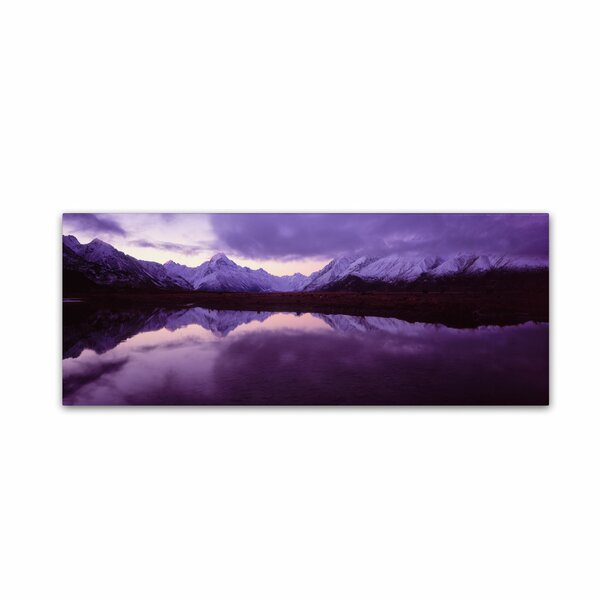 Mount Cook from Tasman River, NZ by David Evans Photographic Print on Wrapped Canvas by Trademark Fine Art