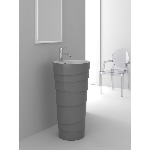 Rockview Gray Pedestal by Fine Fixtures