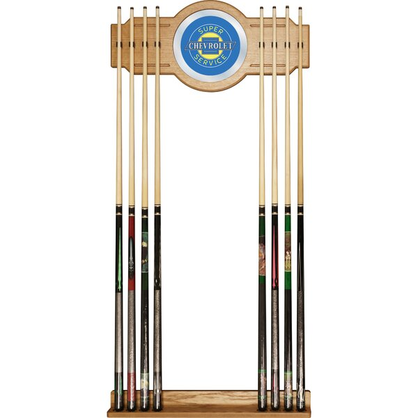 Chevy Super Service Wall Cue Rack by Trademark Global