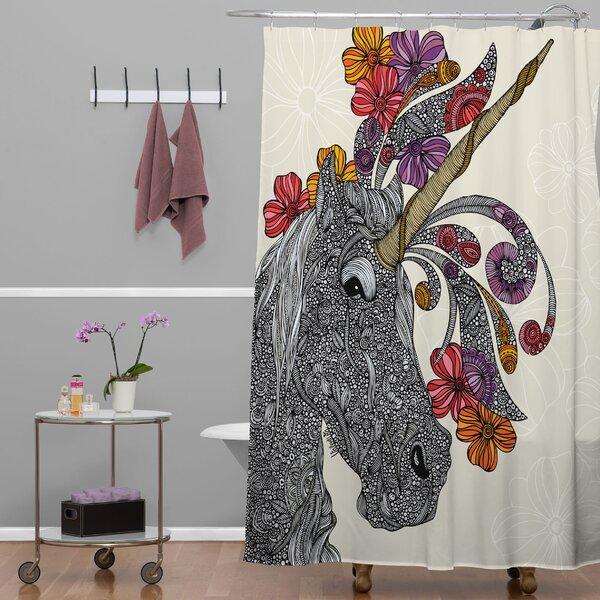 Deepak Unicornucopia Shower Curtain by Bungalow Rose