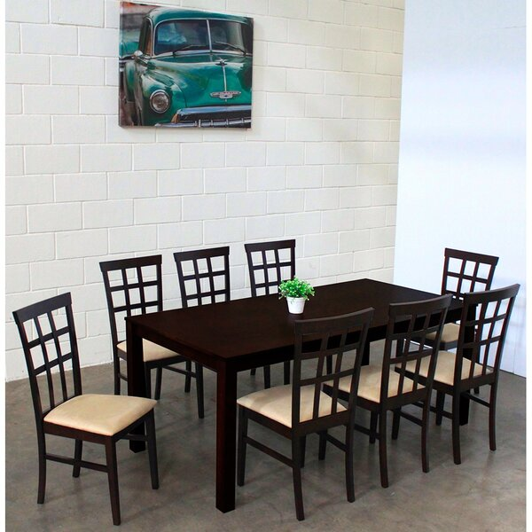 Justin 9 Piece Solid Wood Dining Set by Warehouse of Tiffany