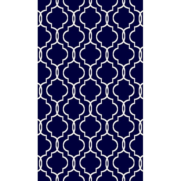 Larrabee Decorative Modern Contemporary Southwestern Navy Area Rug by Charlton Home