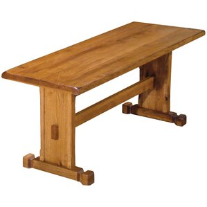 Sedona Wood Trestle Bench by Just Cabinets Furniture and More