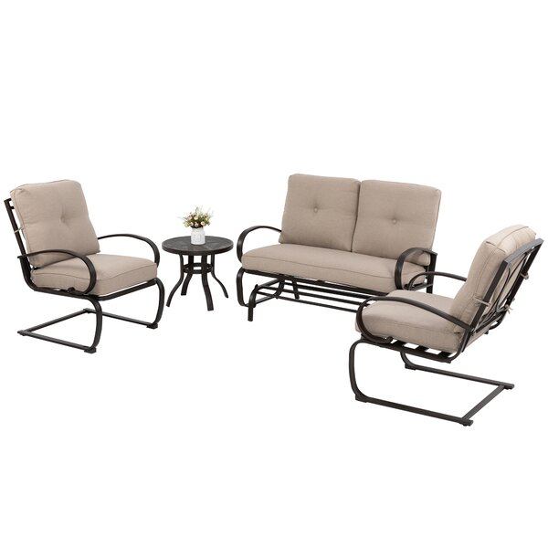Bern 4 Piece Multiple Chairs Seating Group with Cushions by Latitude Run