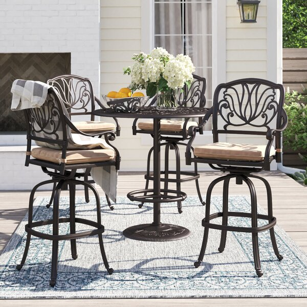 Lebanon 5 Piece Bar Height Dining Set with Cushions by Three Posts