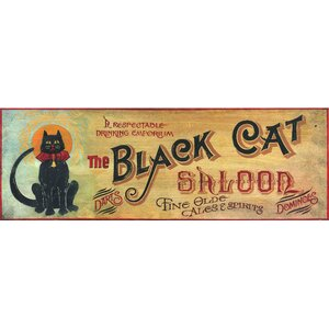 'Black Cat' Vintage Advertisement Plaque by Red Barrel Studio