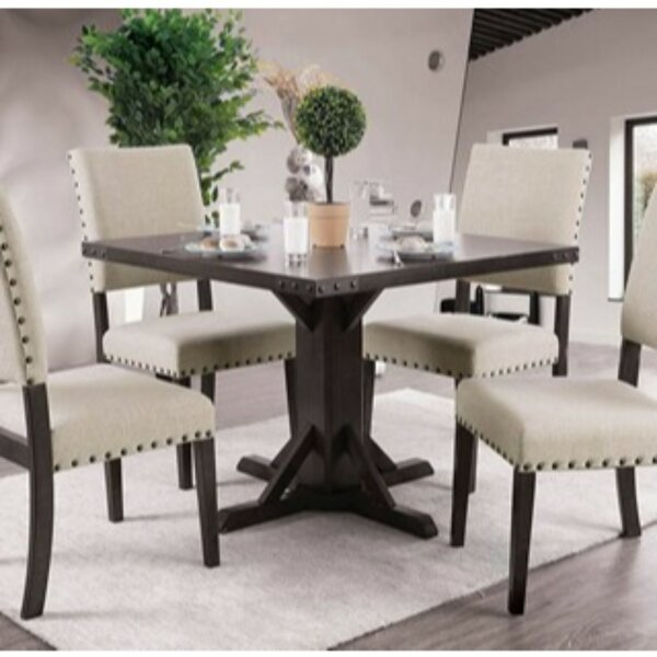 Cogan 5 Piece Solid Wood Dining Set by Gracie Oaks