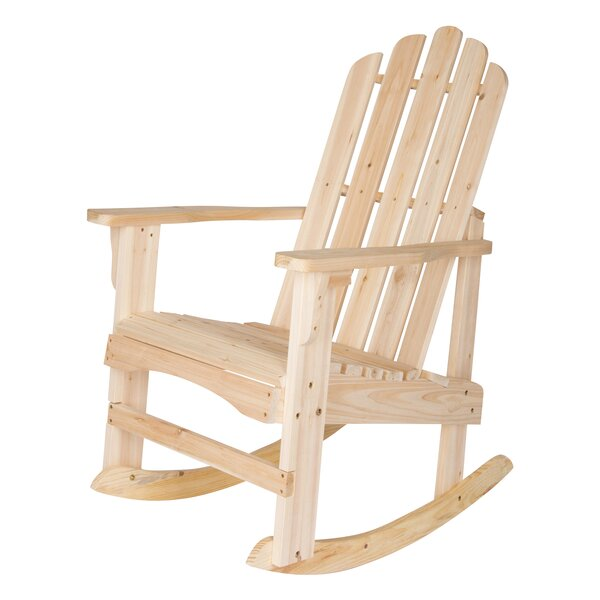 Janes Solid Wood Rocking Adirondack Chair by Breakwater Bay
