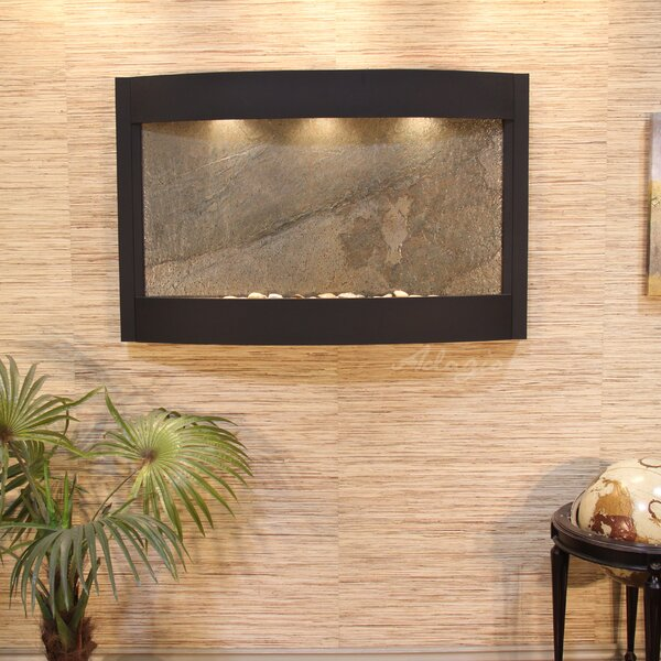 Calming Waters Natural Stone/Metal Wall Fountain by Adagio Fountains